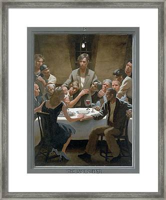 5. The Last Supper / From The Passion Of Christ - A Gay Vision Framed Print by Douglas Blanchard