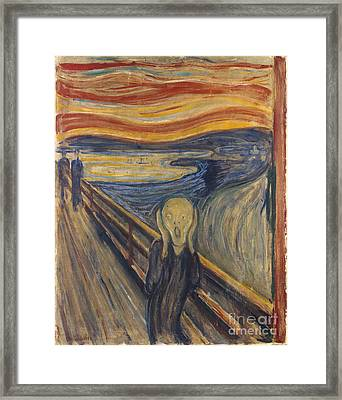 The Scream Framed Print by Mountain Dreams