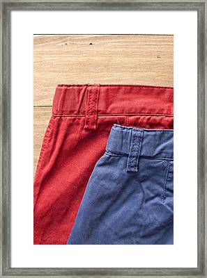Trousers Framed Print by Tom Gowanlock