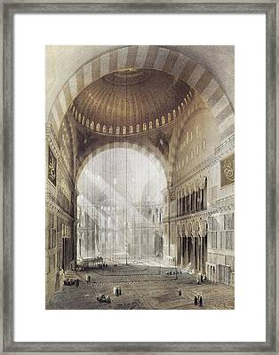 Turkey Hagia Sophia, 1852 Framed Print by Granger