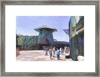 Visitors Heading Towards The Waterworld Attraction Framed Print by Ashish Agarwal