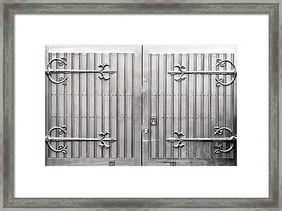 Wooden Gate Framed Print by Tom Gowanlock