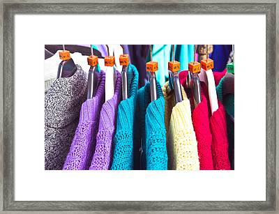 Wool Jumpers Framed Print by Tom Gowanlock