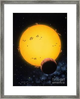 51 Pegasi Framed Print by Lynette Cook