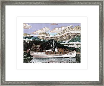 53 Foot Classic Yacht North To Alaska Framed Print by Jack Pumphrey