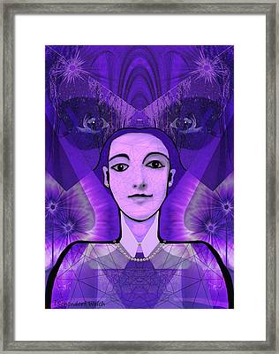 533 -   Watching   Framed Print by Irmgard Schoendorf Welch