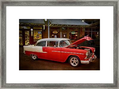 55 Chevy Belair Framed Print by Saija  Lehtonen