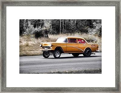 55 Chevy Gasser Racing Framed Print by Steve McKinzie