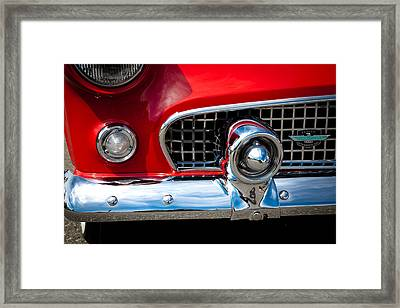 55 Ford Thunderbird Framed Print by David Patterson