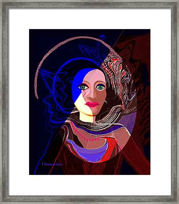 551 - Greeneyed  Witch Framed Print by Irmgard Schoendorf Welch