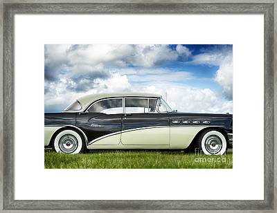 56 Buick Century Riviera Hdr Framed Print by Tim Gainey