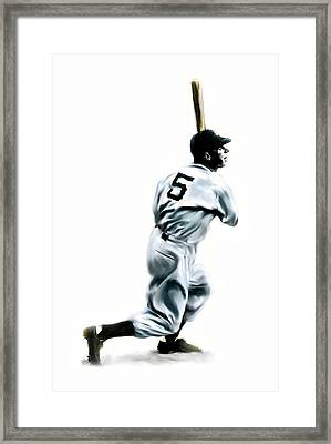 56 Joe Dimaggio Framed Print by Iconic Images Art Gallery David Pucciarelli