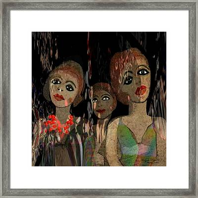 562 - Three Young Girls   Framed Print by Irmgard Schoendorf Welch
