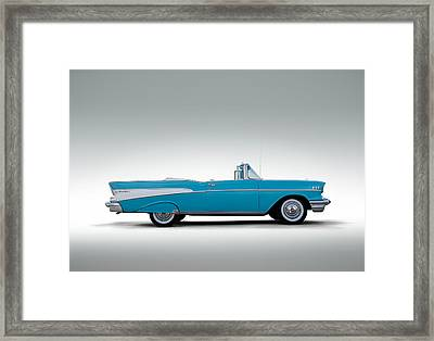 57 Chevy Convertible Framed Print by Douglas Pittman
