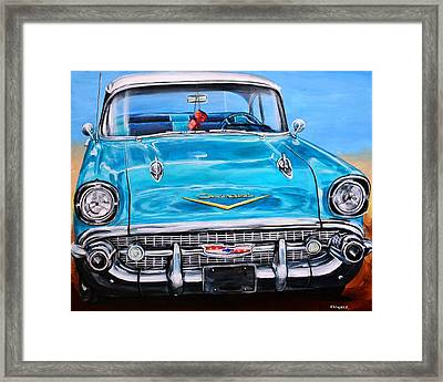 '57 Chevy Front End Framed Print by Karl Wagner