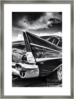 57 Monochrome Framed Print by Tim Gainey