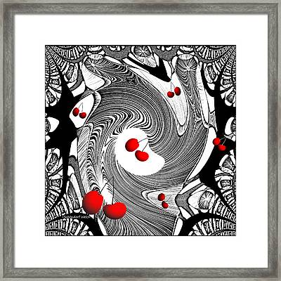 599 - Cherry Cherry Framed Print by Irmgard Schoendorf Welch