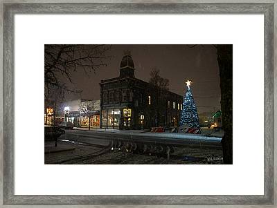 5th And G At Christmas 2012 No2 Framed Print by Mick Anderson