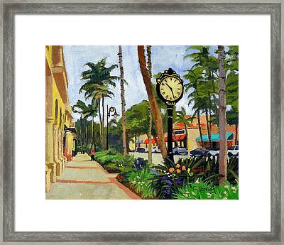 5th Avenue Naples Florida Framed Print by Christine Hopkins