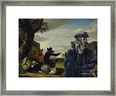 Italian Greyhound Art Canvas Print Framed Print by Sandra Sij