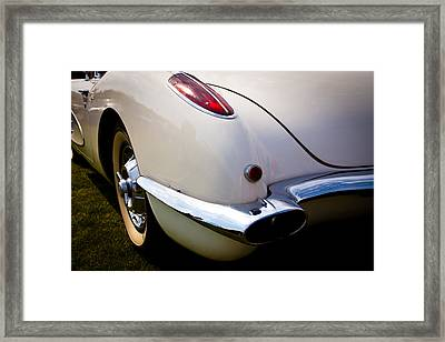 1959 Chevy Corvette Framed Print by David Patterson