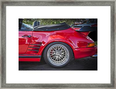 1984 Porsche 911 Carrera Cabriolet Slant Nose Framed Print by Rich Franco