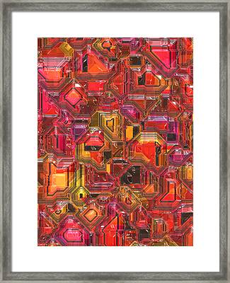 003 Abstract  Framed Print by Mark Brooks