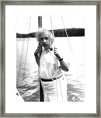 Albert Einstein Framed Print by Retro Images Archive