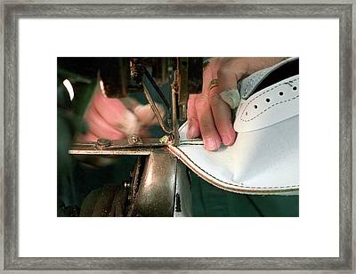 American Football Manufacturing Framed Print by Jim West