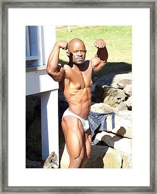 Art Of Muscle Framed Print by Jake Hartz