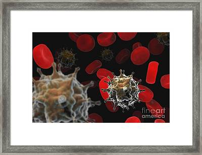 Avian Influenza Virus H5n1 Framed Print by Science Picture Co