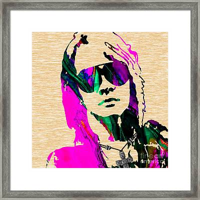 Axl Roxe Collection Framed Print by Marvin Blaine