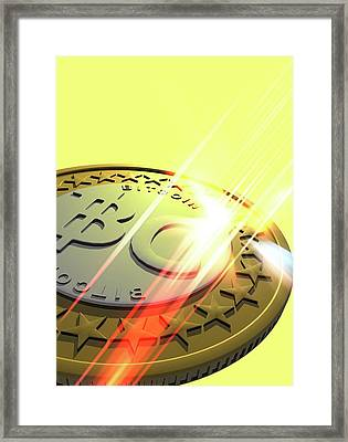 Bitcoin Framed Print by Victor Habbick Visions