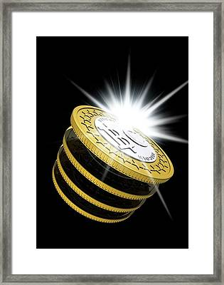 Bitcoins Framed Print by Victor Habbick Visions