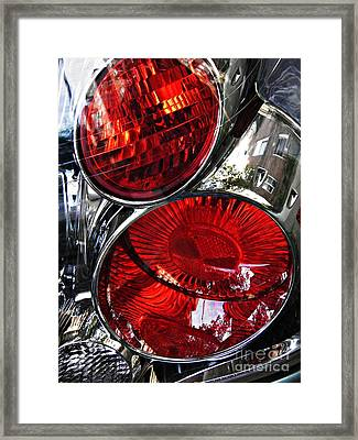 Brake Light 13 Framed Print by Sarah Loft