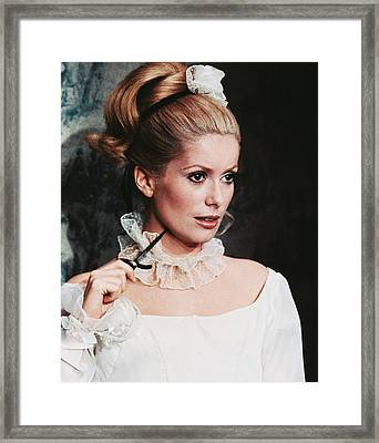 Catherine Deneuve Framed Print by Silver Screen