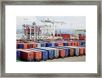 Container Port Framed Print by Jim West