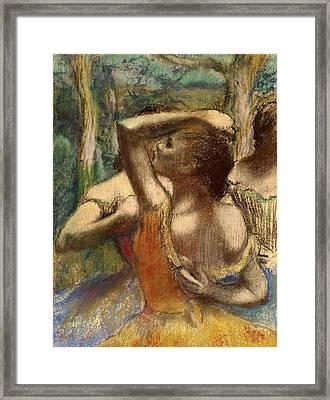 Dancers Framed Print by Edgar Degas