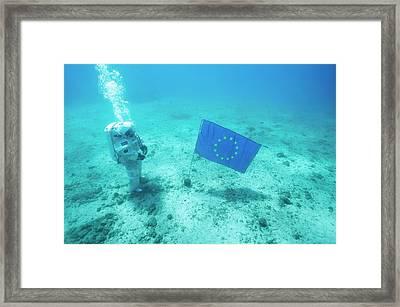 Esa Underwater Astronaut Training Framed Print by Alexis Rosenfeld