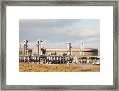 Flotta Oil Terminal Framed Print by Ashley Cooper