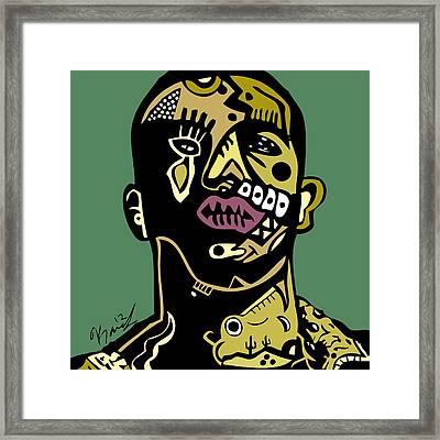 6 God Drizzy Framed Print by Kamoni Khem