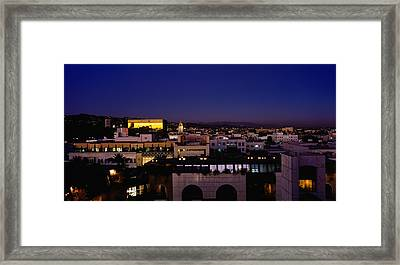 High Angle View Of A Cityscape Framed Print by Panoramic Images