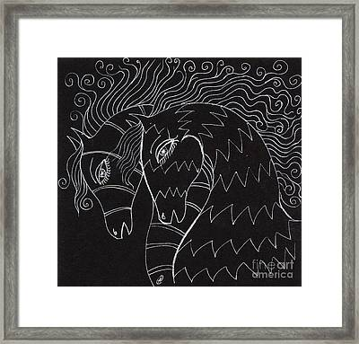 Horses Framed Print by Angel  Tarantella