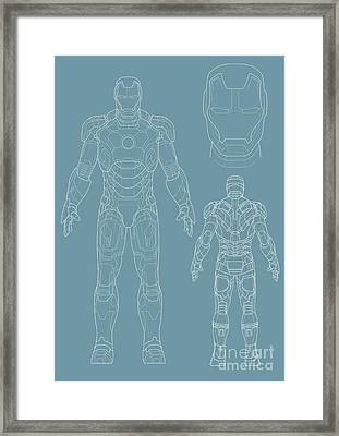 Iron Man Framed Print by Unknow