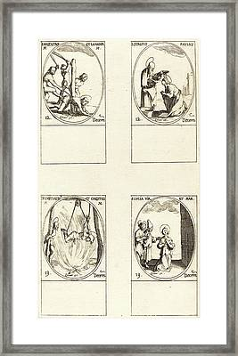 Jacques Callot, French 1592-1635 Framed Print by Litz Collection