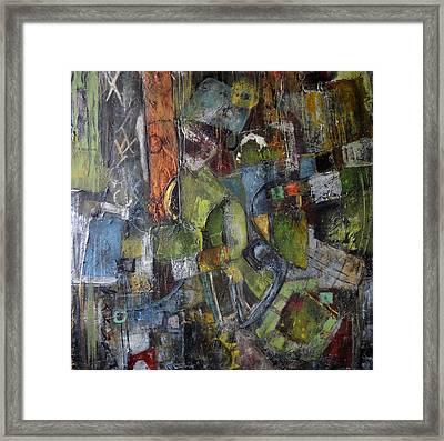Junkyard Framed Print by Katie Black
