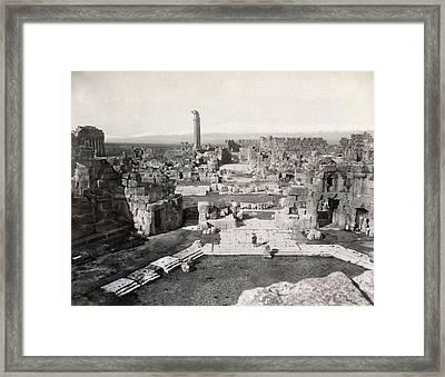 Lebanon Baalbek Framed Print by Granger