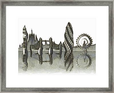 London Skyline Framed Print by Michal Boubin