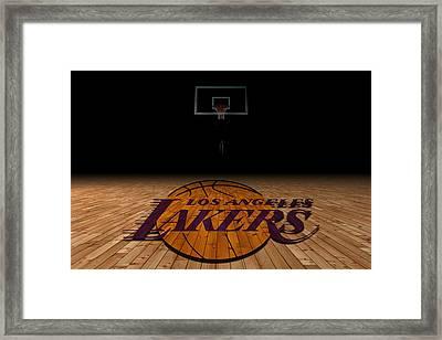 Los Angeles Lakers Framed Print by Joe Hamilton