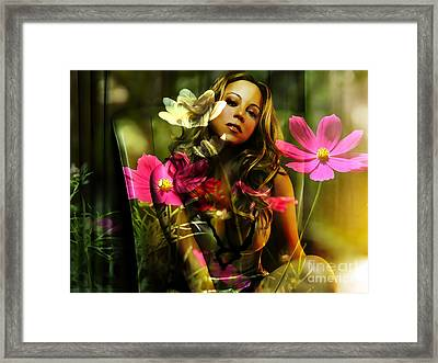 Mariah Carey Framed Print by Marvin Blaine